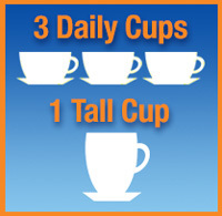 3 Daily cups + 1 Tall Cup
